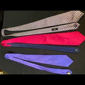 Purple ties & Magenta tie